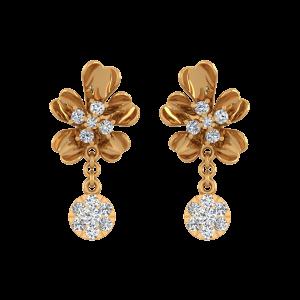 Blossom Drop Diamond Drop Earrings