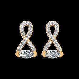 The Smiling Eyes Diamond Stud Earrings