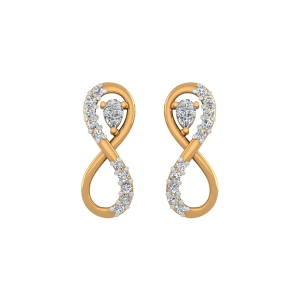 The Infinity Diamond Stud Earrings