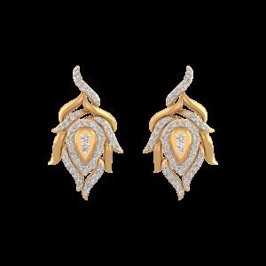 The Golden Flame Diamond Stud Earrings