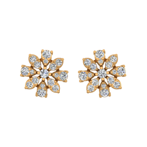 Disc-O-Drama Diamond Stud Earrings