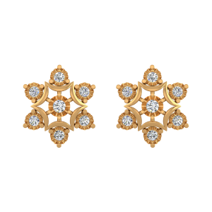Dancing Petals Diamond Stud Earrings