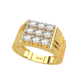 The Prominent Gold Diamond Men`s Ring