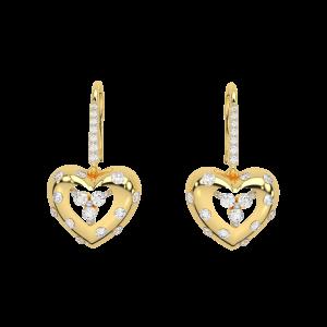 Heart Out Diamond Stud Earrings