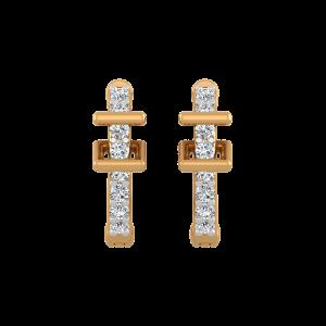Buck Up Diamond Hoop Earrings
