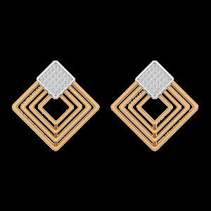 Glitter Board Diamond Stud Earrings