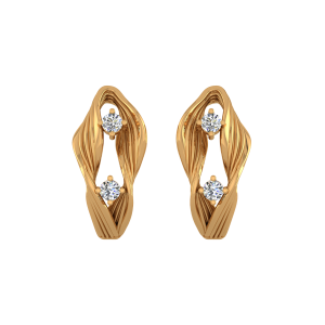 Absolute Art  Diamond Stud Earrings