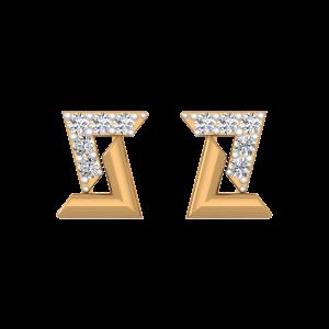 The Zee Diamond Stud Earrings