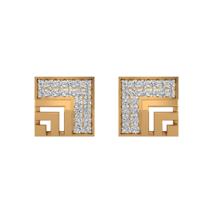 The Squared in Appeal Diamond Stud Earrings