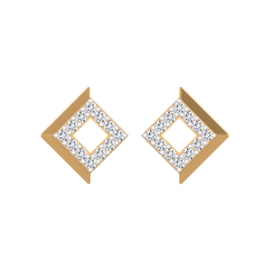 The Sleek Chic Diamond Stud Earrings