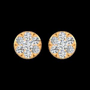 Floral Bash Diamond Stud Earrings