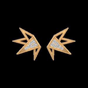 Tapered Treat Diamond Stud Earrings