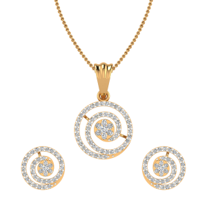 The Magical Spin Diamond Pendant Set