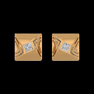 The Florescent Diamond Stud Earrings