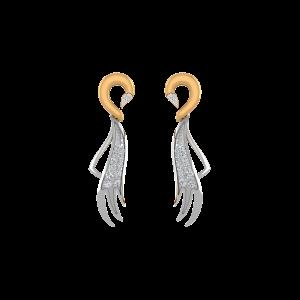 The Golden Blush Diamond Stud Earrings