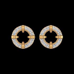 The Round Table Diamond Stud Earrings