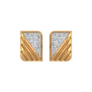 The Golden Stripes Diamond Stud Earrings