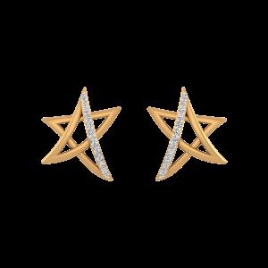 Starred Away Diamond Stud Earrings
