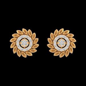 The Wheely Way Diamond Stud Earrings