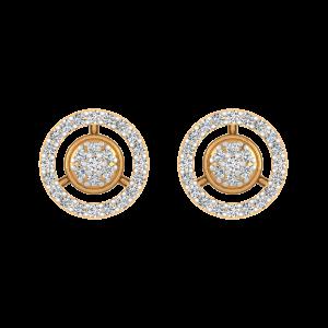 Round Basics Diamond Stud Earrings