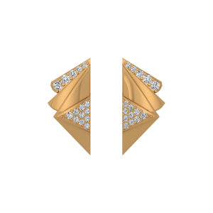Golden Sheets Diamond Stud Earrings