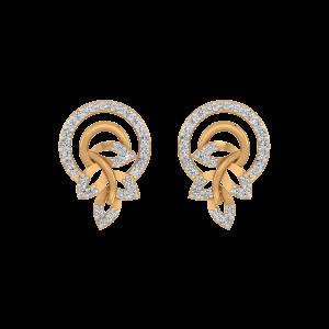 Gorgeous Petals Diamond Stud Earrings