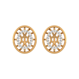 Playful Ovals Diamond Stud Earrings