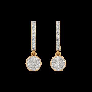 Think Hoop Gold Diamond Hoop Earrings