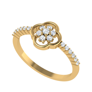 Bloom From Within Floral Diamond Ring