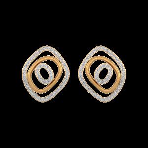 The Allure Gold Diamond Stud Earrings