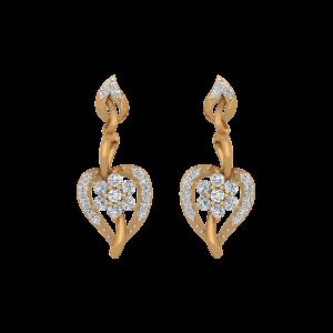 Foliole Play Gold Diamond Drop Earrings