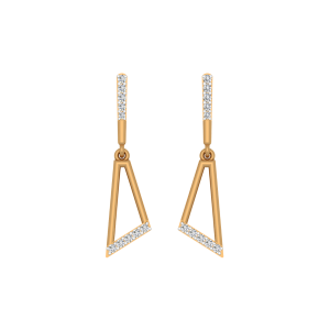 The Trapaz Treat Gold Diamond Drop Earrings