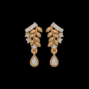 Dangle Rhyme Gold Diamond Drop Earrings
