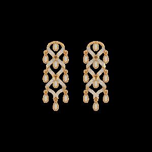The Dangle Tassel Diamond Danglers Earrings