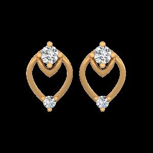 The Glitter Gold Diamond Stud Earrings
