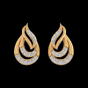 The Raining Gold Diamond Earrings
