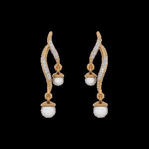 The Pearl Posts Diamond & Pearl Earring