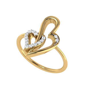 Entangled Forever Hearts Diamond Ring