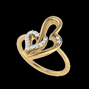 Entangled Forever Hearts Diamond Ring