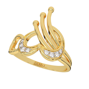 Club The Love Hearts Diamond Ring
