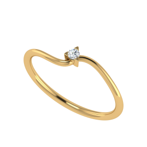 The Solitaire Swirl Diamond Ring