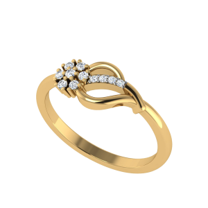 A Soul Blossoming Floral Diamond Ring