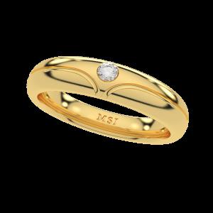 Knit & Knot Couple Band Diamond Ring