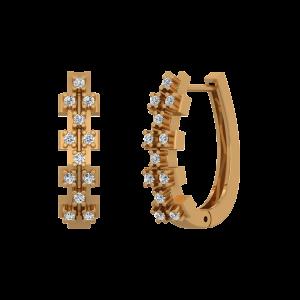 Dream Hoops Gold Diamond Earrings
