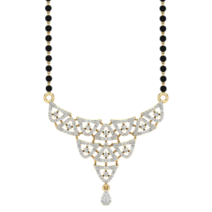 The Gorgeous Mangalsutra With Black Beads Gold Chain