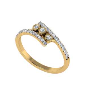 The Contemporary Catch Diamond Ring