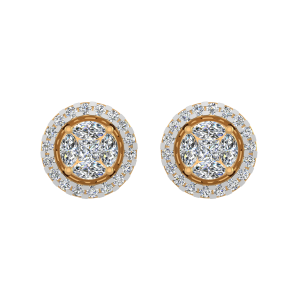 The Super Studs Gold Diamond Earrings