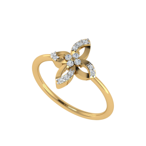 Floweret Yourself Floral Diamond Ring