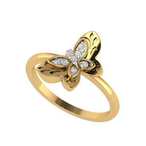 The Ephemeral Moments Butterfly Diamond Ring