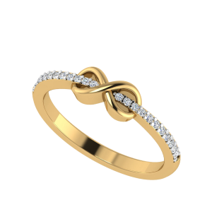 Beyond Infinity Half Eternity Diamond Ring